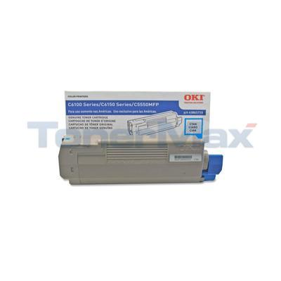 OKIDATA C6150 TONER CARTRIDGE CYAN